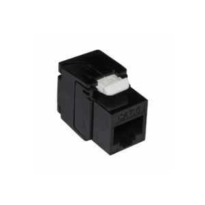 10 pz: Frutto RJ45 categoria 6 UTP tooless colore nero